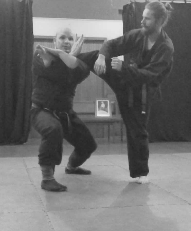 Defence against a kick 2 | Traditional Martial Arts | Melbourne, Victoria, Australia